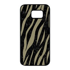 Skin3 Black Marble & Khaki Fabric (r) Samsung Galaxy S7 Edge Black Seamless Case