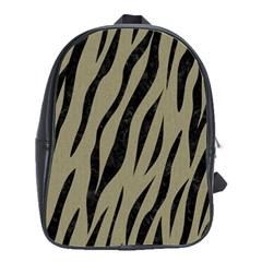 Skin3 Black Marble & Khaki Fabric School Bag (large) by trendistuff