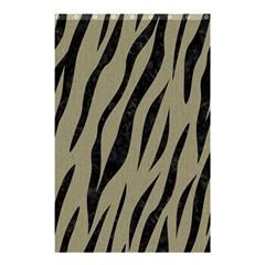 Skin3 Black Marble & Khaki Fabric Shower Curtain 48  X 72  (small)  by trendistuff