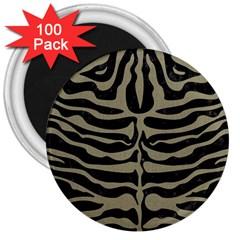 Skin2 Black Marble & Khaki Fabric (r) 3  Magnets (100 Pack) by trendistuff