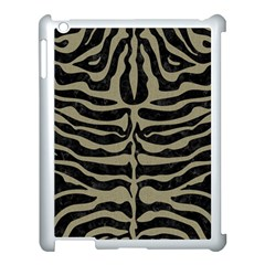 Skin2 Black Marble & Khaki Fabric (r) Apple Ipad 3/4 Case (white) by trendistuff
