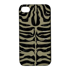 Skin2 Black Marble & Khaki Fabric (r) Apple Iphone 4/4s Hardshell Case With Stand by trendistuff