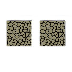Skin1 Black Marble & Khaki Fabric (r) Cufflinks (square) by trendistuff