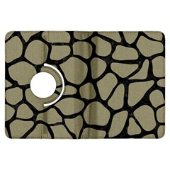 Skin1 Black Marble & Khaki Fabric (r) Kindle Fire Hdx Flip 360 Case by trendistuff