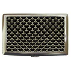 Scales3 Black Marble & Khaki Fabric (r) Cigarette Money Cases by trendistuff