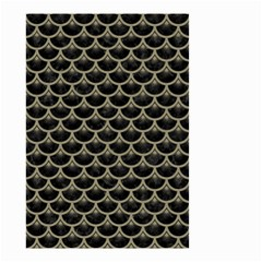 Scales3 Black Marble & Khaki Fabric (r) Small Garden Flag (two Sides) by trendistuff