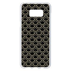 Scales2 Black Marble & Khaki Fabric (r) Samsung Galaxy S8 Plus White Seamless Case by trendistuff