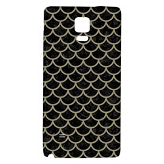 Scales1 Black Marble & Khaki Fabric (r) Galaxy Note 4 Back Case