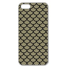 Scales1 Black Marble & Khaki Fabric Apple Seamless Iphone 5 Case (clear) by trendistuff
