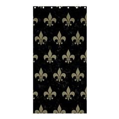 Royal1 Black Marble & Khaki Fabric Shower Curtain 36  X 72  (stall)  by trendistuff