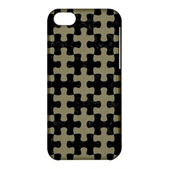 Puzzle1 Black Marble & Khaki Fabric Apple Iphone 5c Hardshell Case by trendistuff
