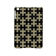 Puzzle1 Black Marble & Khaki Fabric Ipad Mini 2 Hardshell Cases by trendistuff