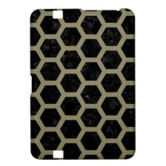 Hexagon2 Black Marble & Khaki Fabric (r) Kindle Fire Hd 8 9  by trendistuff