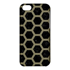 Hexagon2 Black Marble & Khaki Fabric (r) Apple Iphone 5c Hardshell Case by trendistuff