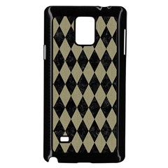 Diamond1 Black Marble & Khaki Fabric Samsung Galaxy Note 4 Case (black) by trendistuff