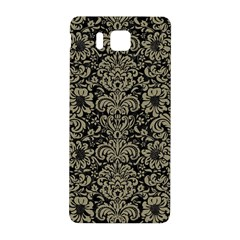 Damask2 Black Marble & Khaki Fabric (r) Samsung Galaxy Alpha Hardshell Back Case by trendistuff