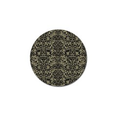 Damask2 Black Marble & Khaki Fabric Golf Ball Marker (10 Pack) by trendistuff