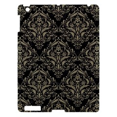 Damask1 Black Marble & Khaki Fabric (r) Apple Ipad 3/4 Hardshell Case by trendistuff