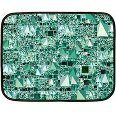 Modern Geo Fun, Teal Fleece Blanket (mini) by MoreColorsinLife