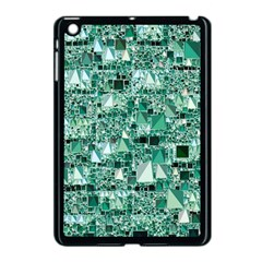 Modern Geo Fun, Teal Apple Ipad Mini Case (black) by MoreColorsinLife