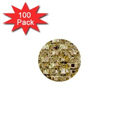 Modern Geo Fun,golden 1  Mini Buttons (100 Pack)  by MoreColorsinLife