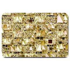 Modern Geo Fun,golden Large Doormat  by MoreColorsinLife