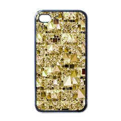 Modern Geo Fun,golden Apple Iphone 4 Case (black) by MoreColorsinLife