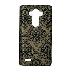 Damask1 Black Marble & Khaki Fabric Lg G4 Hardshell Case by trendistuff
