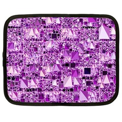 Modern Geo Fun,lilac Netbook Case (large) by MoreColorsinLife