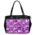 Modern Geo Fun,lilac Office Handbags (2 Sides)  Front