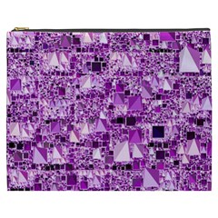 Modern Geo Fun,lilac Cosmetic Bag (xxxl)  by MoreColorsinLife
