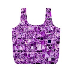 Modern Geo Fun,lilac Full Print Recycle Bags (m)  by MoreColorsinLife