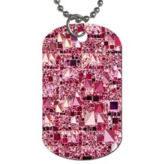 Modern Geo Fun,pink Dog Tag (two Sides) by MoreColorsinLife