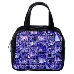 Modern Geo Fun, Blue Classic Handbags (one Side) by MoreColorsinLife