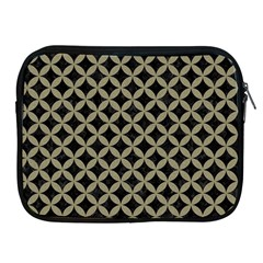 Circles3 Black Marble & Khaki Fabric (r) Apple Ipad 2/3/4 Zipper Cases by trendistuff
