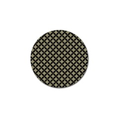 Circles3 Black Marble & Khaki Fabric Golf Ball Marker (10 Pack) by trendistuff