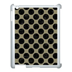Circles2 Black Marble & Khaki Fabric Apple Ipad 3/4 Case (white) by trendistuff