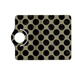Circles2 Black Marble & Khaki Fabric Kindle Fire Hd (2013) Flip 360 Case by trendistuff