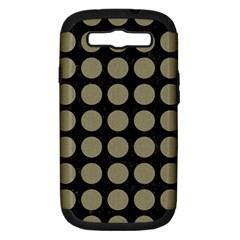 Circles1 Black Marble & Khaki Fabric (r) Samsung Galaxy S Iii Hardshell Case (pc+silicone) by trendistuff