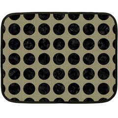 Circles1 Black Marble & Khaki Fabric Fleece Blanket (mini) by trendistuff