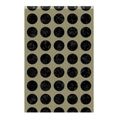 Circles1 Black Marble & Khaki Fabric Shower Curtain 48  X 72  (small)  by trendistuff