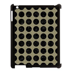 Circles1 Black Marble & Khaki Fabric Apple Ipad 3/4 Case (black) by trendistuff