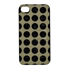 Circles1 Black Marble & Khaki Fabric Apple Iphone 4/4s Hardshell Case With Stand by trendistuff