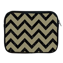 Chevron9 Black Marble & Khaki Fabric Apple Ipad 2/3/4 Zipper Cases by trendistuff