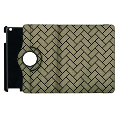 Brick2 Black Marble & Khaki Fabric Apple Ipad 3/4 Flip 360 Case by trendistuff