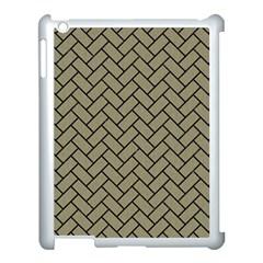 Brick2 Black Marble & Khaki Fabric Apple Ipad 3/4 Case (white) by trendistuff