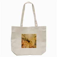 Old Wall Clock Vintage Style Photo Tote Bag (cream) by dflcprints