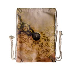 Old Wall Clock Vintage Style Photo Drawstring Bag (small) by dflcprints