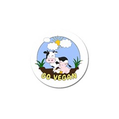 Friends Not Food   Cute Pig And Chicken Golf Ball Marker (10 Pack) by Valentinaart