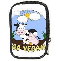 Friends Not Food   Cute Pig And Chicken Compact Camera Cases